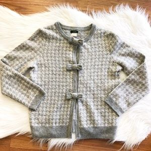 J. Crew Cashmere and Wool Bow Detailed Cardigan